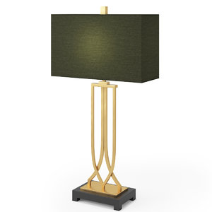 3d art deco table lamp model