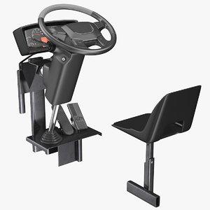 3D bus driver seat