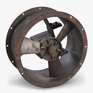 3D model rusty industrial