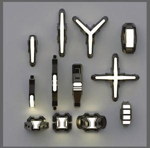 lamps elements 3D model