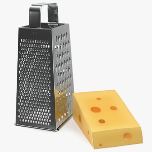 3D model kitchen grater cheese