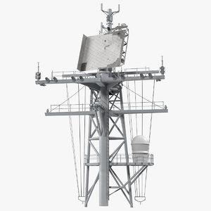 military ship mast 3D