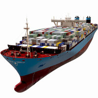 Maersk Triple E 1st generation Containers 399m 3D model 3D model