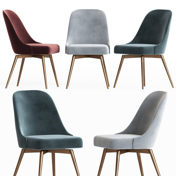Mid Century Office Chair Westelm 3d Modell Turbosquid 1547938
