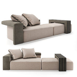 3D model fendi sofa