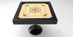 3D model carrom board