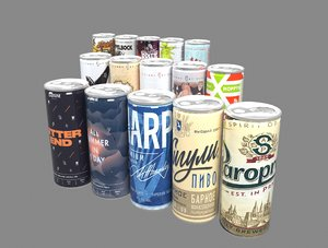 beer cans 3D