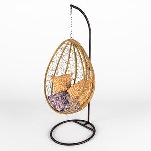 3D swing wicker rattan