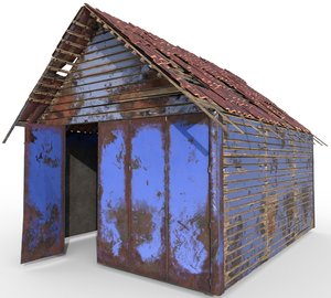 garage hight 3D model