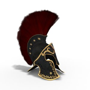 ancient greek helmet 3D model