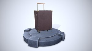 cartoon suitcase 3D model
