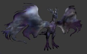 3D dragon monster creature