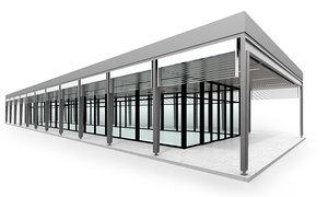 pavilion building 3D model