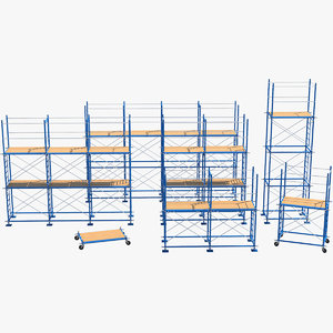 3D model scaffoldings modules industry