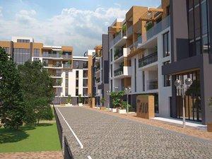 modern residential complex 3D
