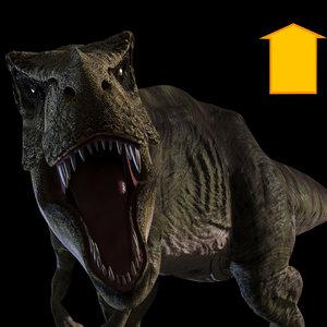 3D t rex animal -