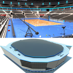 3D volleyball arena volley model