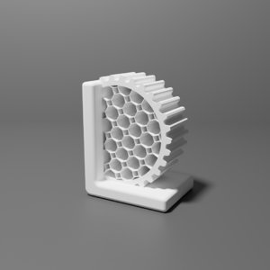 3D industrial bookend gear