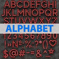 Marquee Alphabet Light Bulbs