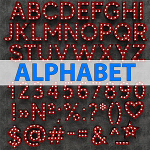 3D marquee alphabet light model