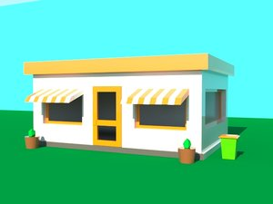fast food restaurant 3D
