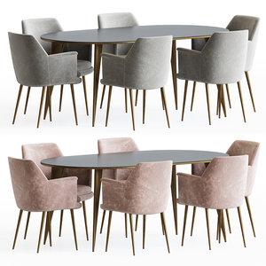 3D dining set 63 chair