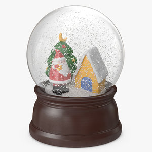 3D snow globe christmas decoration