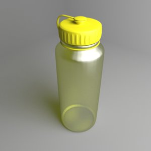 3D multi-use water bottle