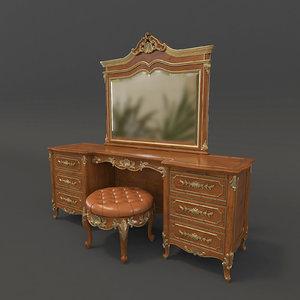 dressing table european 3D model