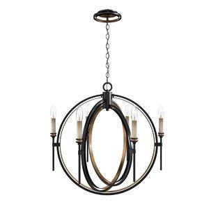 chandelier oil rubbed 3D model