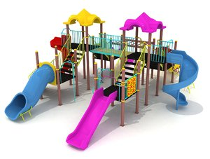 metal playground slide 3D model
