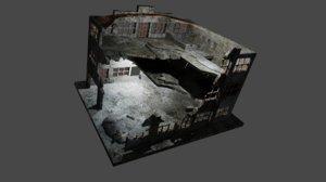 3D building destroyed