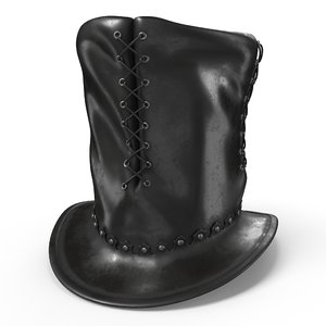 leather hat model
