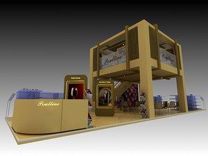 3D model poullive exhibition 6x18