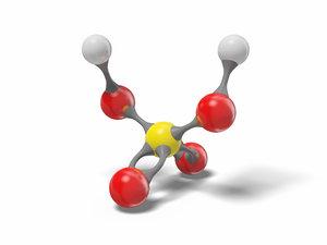 sulfuric acid molecule h2so4 3D model