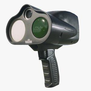 police speed radar gameready model