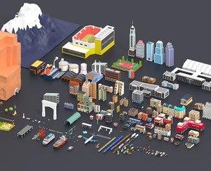 3D trees city