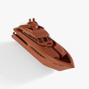 trinity liberty yacht 3D