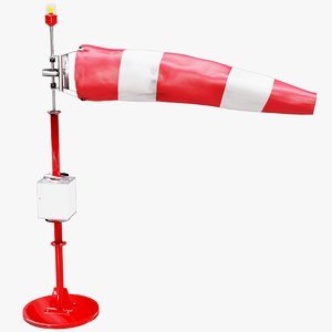 3D model windsock wind