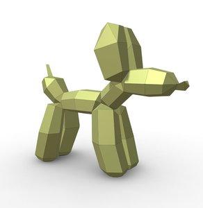 3D baloon dog stay model