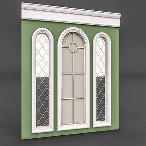 classical window mirror 3D model