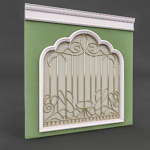 classical window door 3D