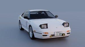 nissan 180sx kenji style 3D model
