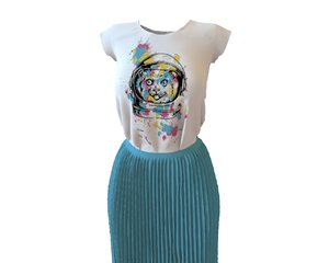 designer t-shirt skirt 3D model