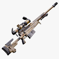 AX-50 Sniper Rifle AAA FPS Game Ready Weapon Asset Low-poly 3D model