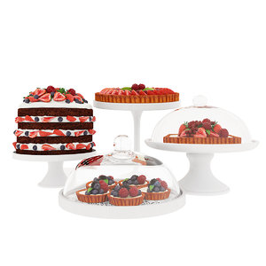 3D cake berry fruit model