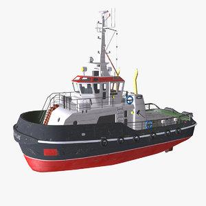 3D tugboat boat pbr