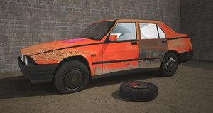 car degraded abandoned 3D model