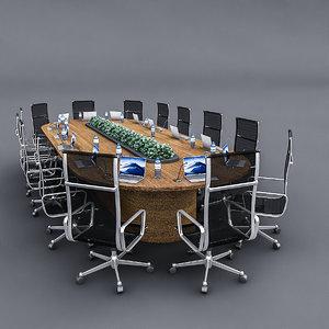 meeting table 02 3D model