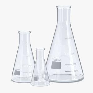 erlenmeyer flasks model